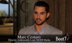 Sorenson The 'Apple Pay' Of Addressable Television: MODI's Cestaro